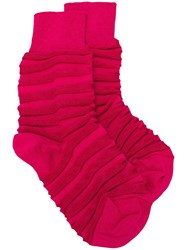 Issey Miyake Fitted Cuffs Socks Pink And Purple