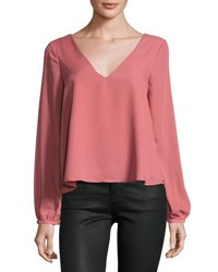 Lucca Couture Long Sleeve Crisscross Detail Top Light Pink