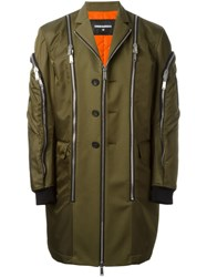 Dsquared2 Zip Detail Military Jacket Green