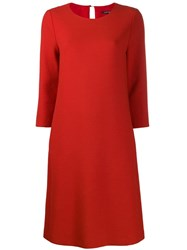 Luisa Cerano Day Dress Red