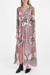 Paul And Joe Chiffon Printed Maxi Dress Pink