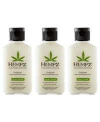Hempz Original Herbal Body Moisturizer Trio Three Items 2.25 Oz From Purebeauty Salon And Spa