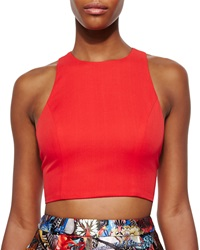 Alice Olivia Blythe Sleeveless Crop Top