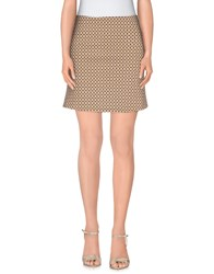 Kaos Skirts Mini Skirts Women Beige