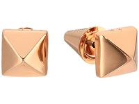 Eddie Borgo Pyramid Stud Earrings Rose Gold