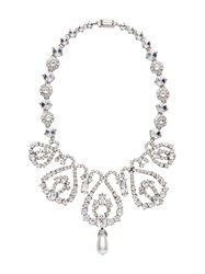 Miu Miu Crystal Necklace Silver