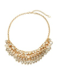Cara Mesh Chain And Graduated Stone Necklace Gold