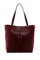 Frye Clara Leather Tote Red