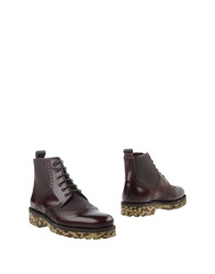 The Generic Man Ankle Boots Maroon