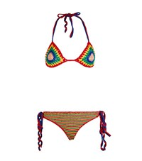Tommy Hilfiger Crochet Tie Side Bikini Female Multi