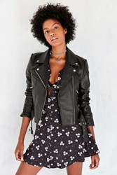 Silence And Noise It's Real Leather Moto Jacket Black
