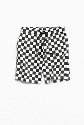 Urban Outfitters Uo Checkerboard Knit Short Black
