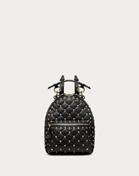 Valentino Garavani Mini Rockstud Spike Backpack Black Lambskin 100