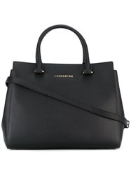 Lancaster Logo Stamp Tote Women Leather One Size Black