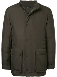 Gieves And Hawkes Front Pockets Padded Coat Polyester L Green