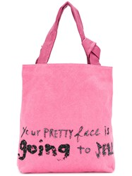 John Galliano Hell Tote Pink And Purple