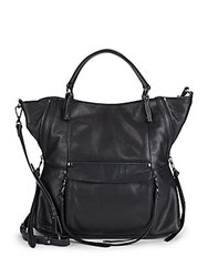 Kooba Everette Leather Satchel Black