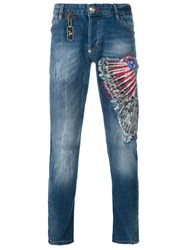 Philipp Plein 'Rough' Jeans Blue
