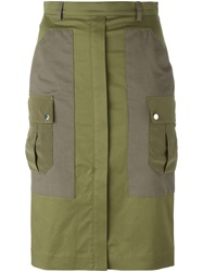 Altuzarra Military Skirt Green