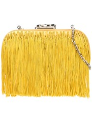 Corto Moltedo 'Susan C Star' Fringed Clutch Yellow Orange