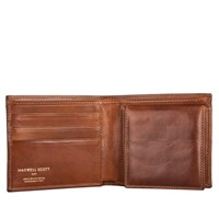 Maxwell Scott Bags Mens Wallet With Coin Pocket