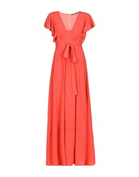 Space Style Concept Long Dresses Coral