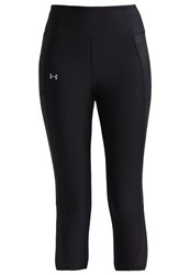 Under Armour Fly By Tights Black Metallic Silver Reflective