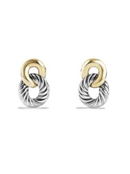 David Yurman Belmont Curb Link Drop Earrings With Gold Silver Gold