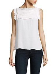 Oscar De La Renta Solid Sleeveless Top Ivory