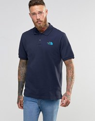 The North Face Polo Shirt With Tnf Logo In Navy Navy