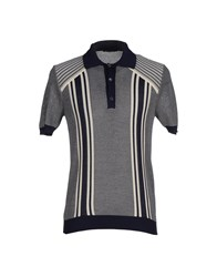 Prada Topwear Polo Shirts Men Dark Blue