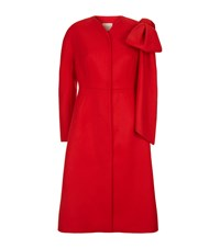 Delpozo Bow Coat Red
