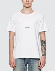 Saint Laurent Logo T Shirt White
