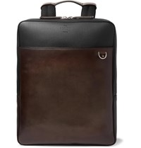 Berluti Contraste Colour Block Leather Backpack Brown