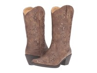 Roper Alisa Brown Faux Leather Cowboy Boots