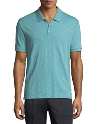 Vince Heathered Jersey Classic Polo Shirt Harbor