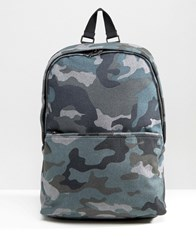 Asos Backpack In Camo Melton Grey