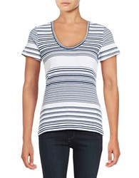 Tommy Bahama All Roads Striped Ashby Tee Deep Ocean
