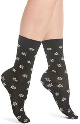 Paul Smith Genevieve Floral Crew Socks Black