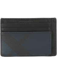 Burberry Checked Cardholder Black