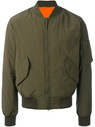 Aspesi Padded Bomber Jacket Green