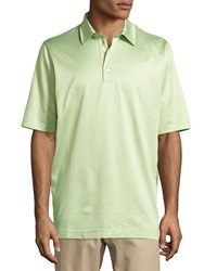 Bobby Jones Diamond Jacquard Polo Shirt Meadow