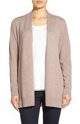 Women's Nordstrom Collection Open Front Cashmere Cardigan Tan Dune Heather