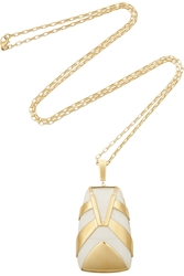 Maiyet Tiger Stripe Gold Plated Resin Necklace