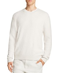 Vince Stretch Merino Wool Textured Sweater Pearl