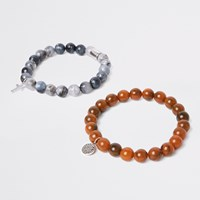 River Island Black Beaded Bracelet Pack