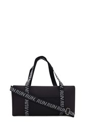 Forever 21 Active Graphic Duffle Bag Black White
