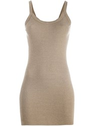 Rick Owens Lilies Spaghetti Straps Long Tank Nude And Neutrals