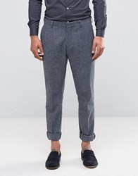 Selected Homme Slim Smart Trouser In Wool Mix Grey
