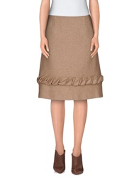 Galliano Knee Length Skirts Sand